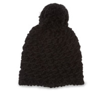 Yarn Pom Mütze Damen Black
