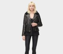 Andee Leather Cycle Jacket Damen Black
