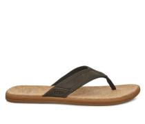 Seaside Flip-Flops für Herren aus Leder in Moss Green