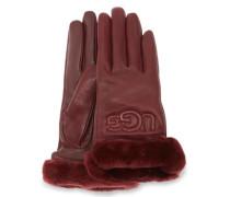 Classic Leather Logo Handschuhe Damen Port
