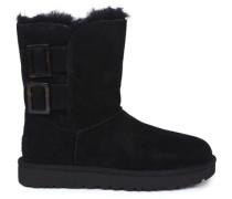 Bailey Fashion Buckle Stiefel aus Veloursleder in Schwarz