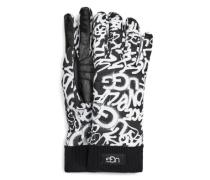 Graffiti All Weather Handschuhe für Damen in Schwarz/Weiß