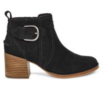 Leahy Ankle Stiefel für Damen aus Veloursleder in Schwarz