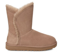 Classic Short Fluff High-Low Stiefel in Amphora