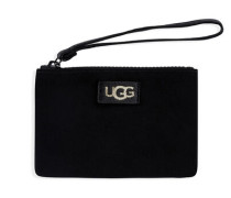Small Zip Pouch Wristlet Clutch Black