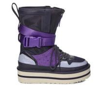 Pop Punk High-Top Sneaker aus Veloursleder in Blau