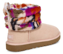 Fluff Mini Quilted Motlee Stiefel in Multi