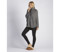 Cape-Pullover Maribeth in Charcoal Heather