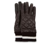 Quilted Varsity Handschuhe Damen Black