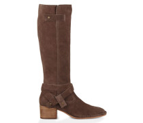 Bandara Tall Casual Stiefel aus Veloursleder in Mysterious