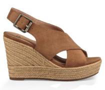 Harlow Sandaletten für Damen aus Veloursleder in Braun