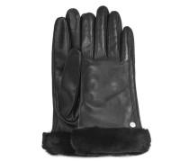 Cassic Shorty eather Tech  Handschuhe aus eder in Schwarz