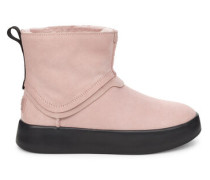 Classic Boom Stiefel aus Veloursleder in Pink Crystal