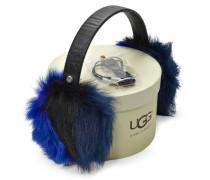 Multi Fur Leather Ohrenschützer Damen Electric Blue Multi