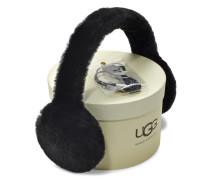 Real Fur Headband Damen Black