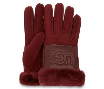 Sheepskin Logo Handschuhe Damen Port