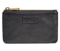 Small Zip Pouch Leather Clutches Damen Black