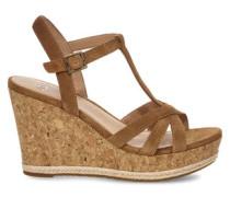 Melissa Sandaletten für Damen aus Veloursleder in Braun