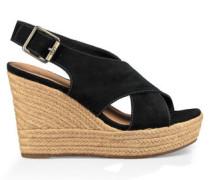 Harlow Sandaletten für Damen aus Veloursleder in Schwarz