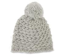 Yarn Pom Mütze Damen Light Grey