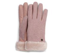 Fabric Leather Shorty Handschuhe für Daen aus Leder in Pink Crystal