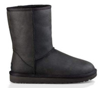 Classic Short Leather Boot Damen Black