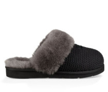 Cozy Knit Slipper Hausschuhe für Damen in Schwarz