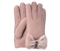 Sheepskin Bow Glove Damen Dusk