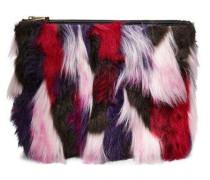Large Zip Pouch Patchwork Handtasche Damen Pink Multi