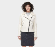 Andee Leather Cycle Jacket Damen Stone