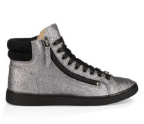 Olive Glitter Sneaker Damen Gunmetal