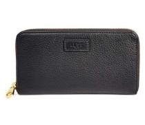 Honey Zip Leather Portemonnaies Damen Black