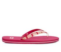 Simi Graphic Logo Flip-Flops Damen Sweet Sangria