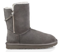 Classic Short Sparkle Zip Boot Damen Charcoal