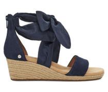 Trina Sandaletten aus Veloursleder in Dark Sapphire