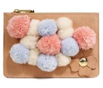 Small Zip Pouch Pom Poms Damen Dusty Coral