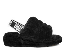 Fluff Yeah Logo Slide Damen Black