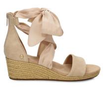 Trina Sandaletten aus Veloursleder in Nude