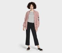 Frances Oversized Bomber Jacke Damen Pink Dawn