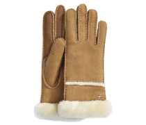 Seamed Tech Handschuhe Damen Chestnut