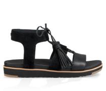 Maryssa Sandalen aus Veloursleder in Schwarz