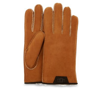 Shearling Glove With Leather Trim Herren Chestnut
