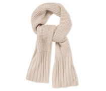Textured Cardi Scarf Damen Ivory Heather