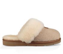 Cozy Knit Hausschuhe für Damen in Cream