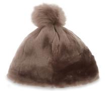 Solid Sheepskin Mütze Damen Stormy Grey L/XL