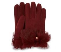 Long Pile Bow Handschuhe Damen Port