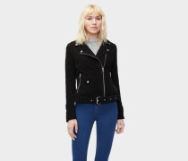 Stacey Suede Moto Jacket Damen Black