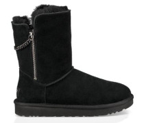 Classic Short Sparkle Zip Boot Damen Black