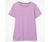 Basic-T-Shirt mit Rundhalsausschnitt Purple Damen