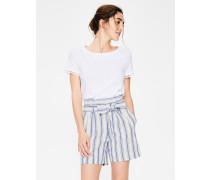 St. Ives Paperbag-Shorts Blue Damen